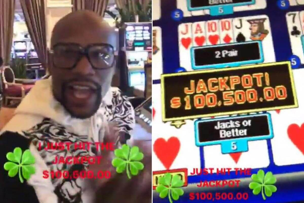 Mayweather Continues Winning Streak With $105k Jackpot