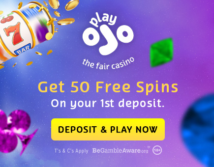 Get 50 Free Spins in Play Ojo Casino