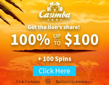 Get your Welcome bonus at Casimba Casino